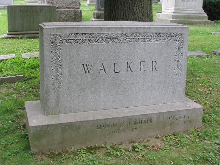 Madam C J Walker Gravesite Woodlawn Cemetery The Bronx Black