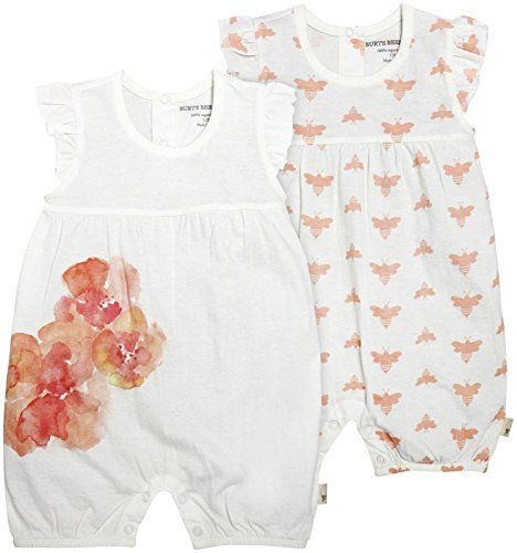 c8bb70b5f Burt s Bees Baby Baby Set Of 2 Organic Cloud Bee and Poppy Floral ...