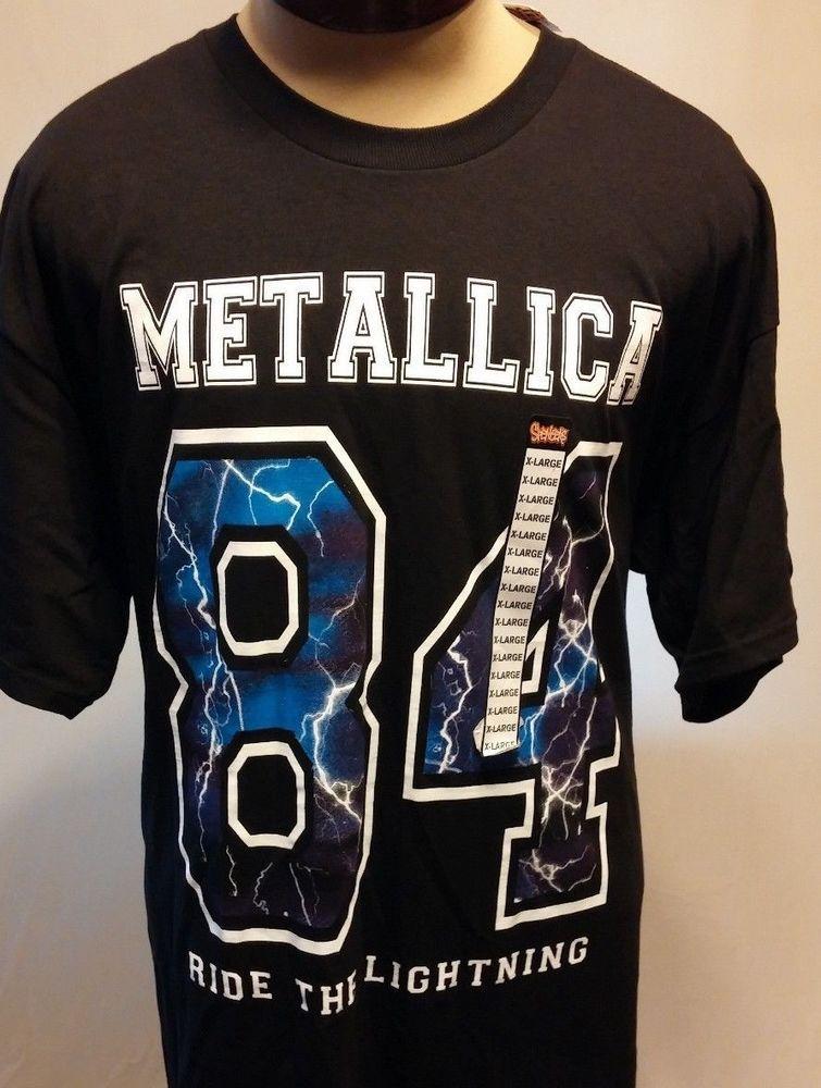 2557b00dd73 NWT Metallica Ride The Lightning 84 Black T-Shirt Size XL  Bravado   GraphicTee