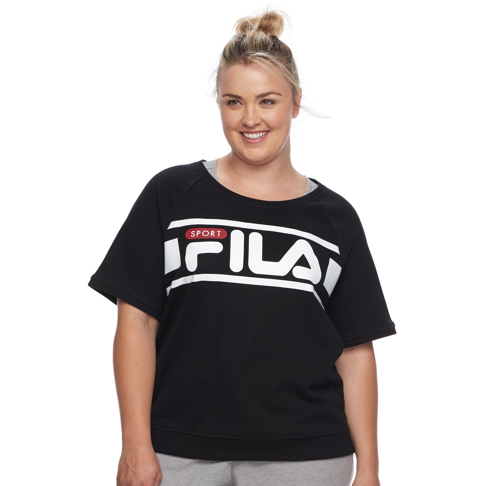 goede textuur innovatief ontwerp prachtige stijl Plus Size FILA SPORT庐 Logo Sweatshirt   Styles Fashion ...