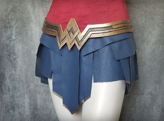 This Is A Beautiful Replica Of The Greekstyled Leather Skirt That Awesome Wonder Woman Skirt Pattern