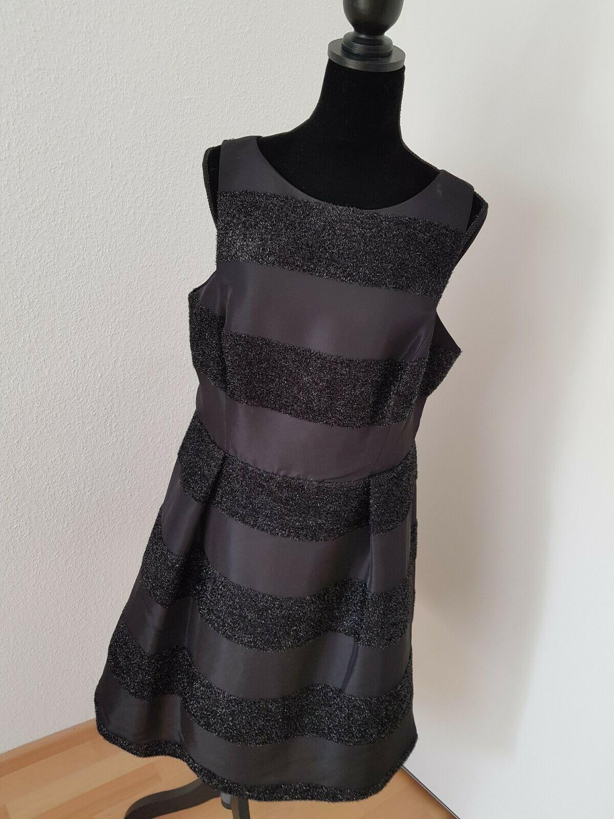 COAST Kleid Cocktailkleid festlich Schwarz Streifen Gr. 10
