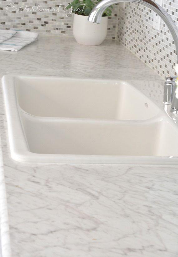 Formica Carrera Bianco Kitchen Countertops Laminate White