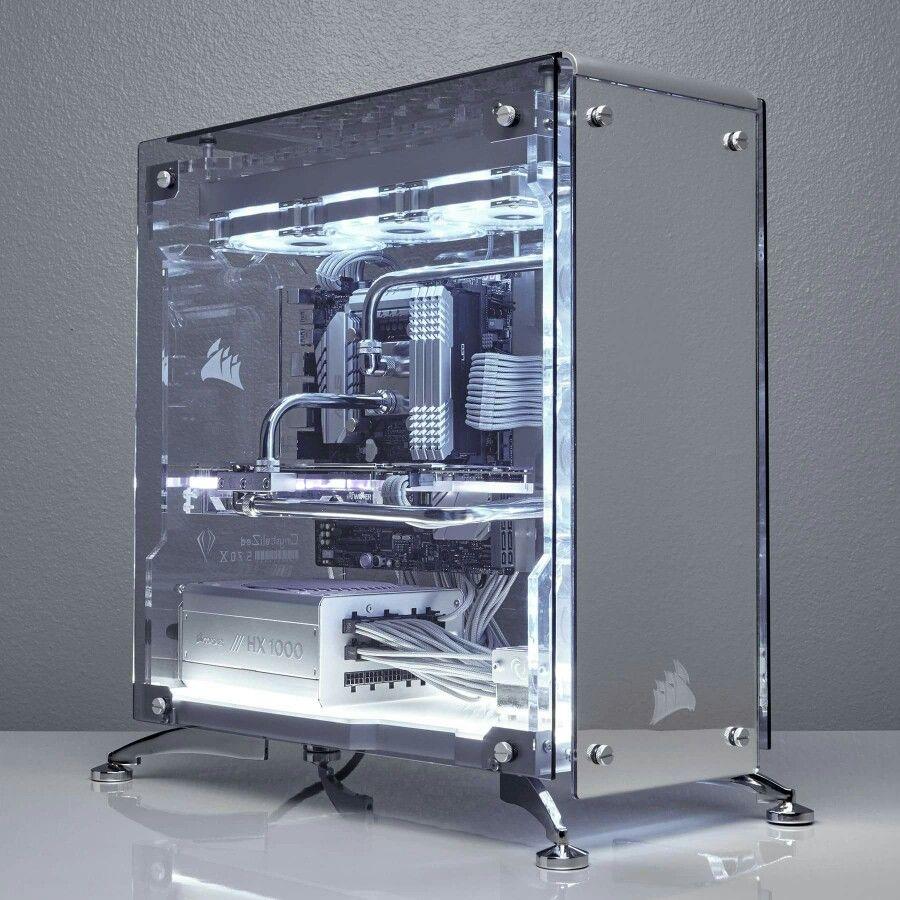 extremely clean pc case gaming desk pinterest gadgets selber bauen und inneneinrichtung. Black Bedroom Furniture Sets. Home Design Ideas