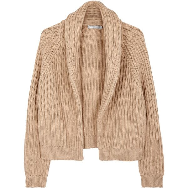 Vince Caramel wool and cashmere blend cardigan (£450) ❤ liked on ...