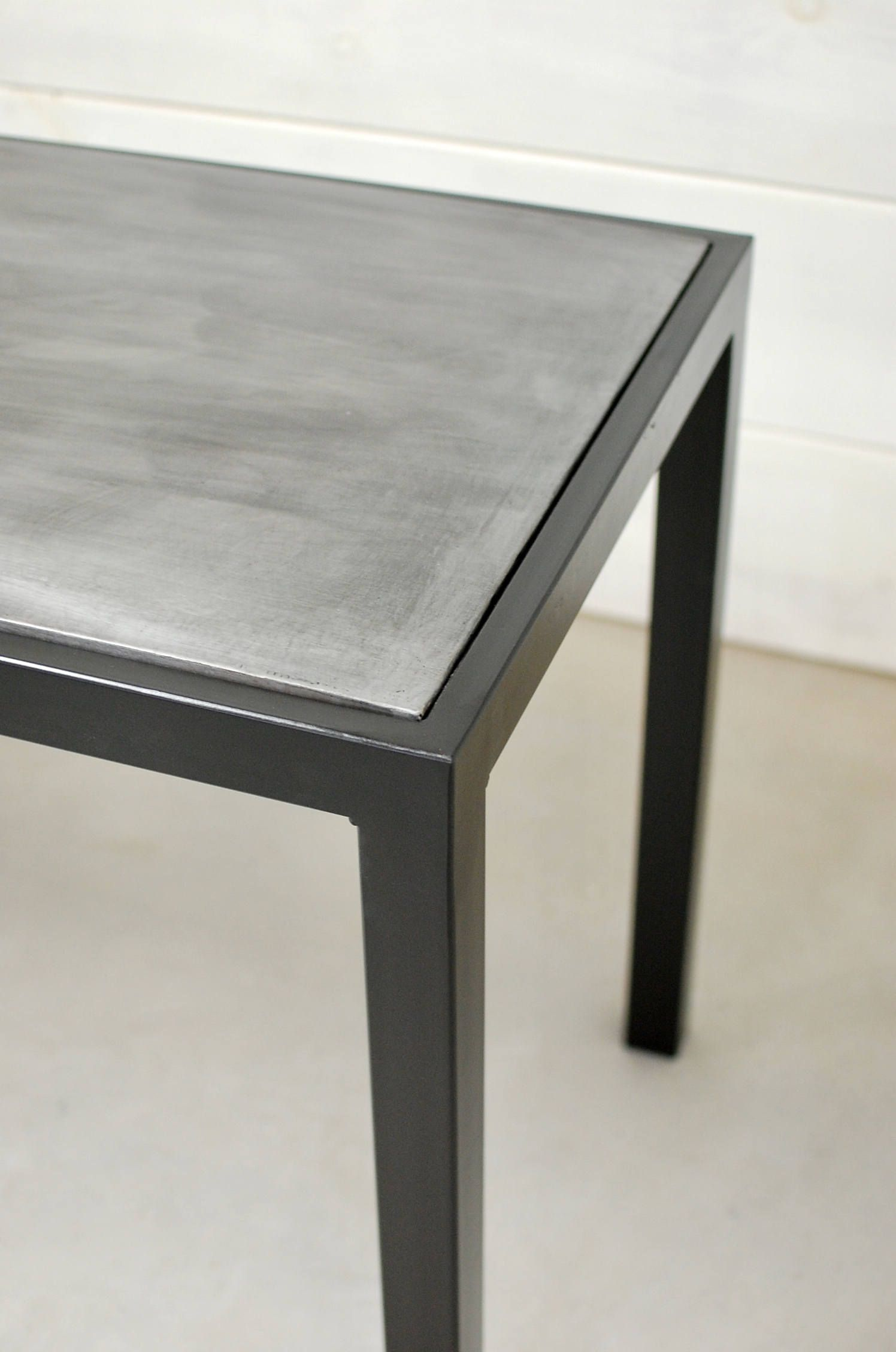 Zinc Top Dining Table Outdoor Table Industrial Zinc Dining Table