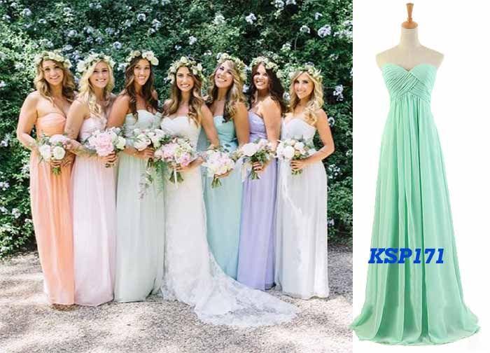 Multi colored bridesmaid dresses uk girls