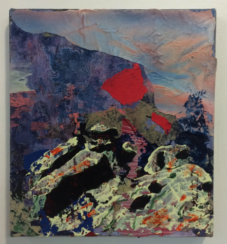 Kimo Nelson, Untitled (#0423), 2015, acrylic on linen, 10 x 9 inches