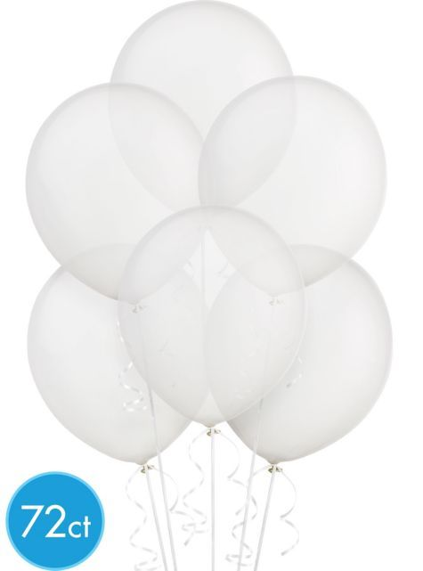 Clear Balloons 72ct Party City For Baby Shower Want To Fill