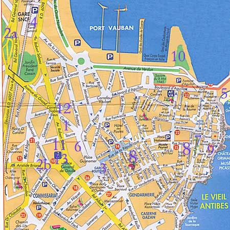 map of Antibes and old port FranceFrench Pinterest Antibes