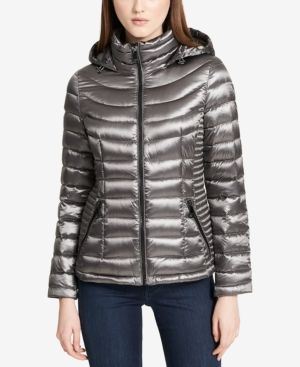 663260f3077d Calvin Klein Packable Hooded Puffer Coat, a Macy's Exclusive Style - Gray  XXL