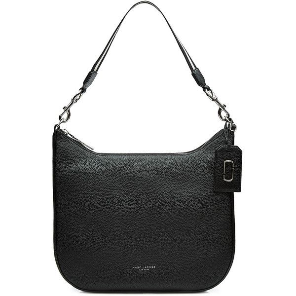 Marc Jacobs Leather Tote (€325) ❤ liked on Polyvore featuring bags, handbags, tote bags, black, marc jacobs tote bag, genuine leather tote, zip top leather tote, handbags totes and tote purses