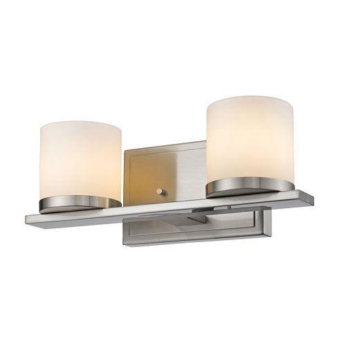 Nori Brushed Nickel Two-Light Vanity Fixture