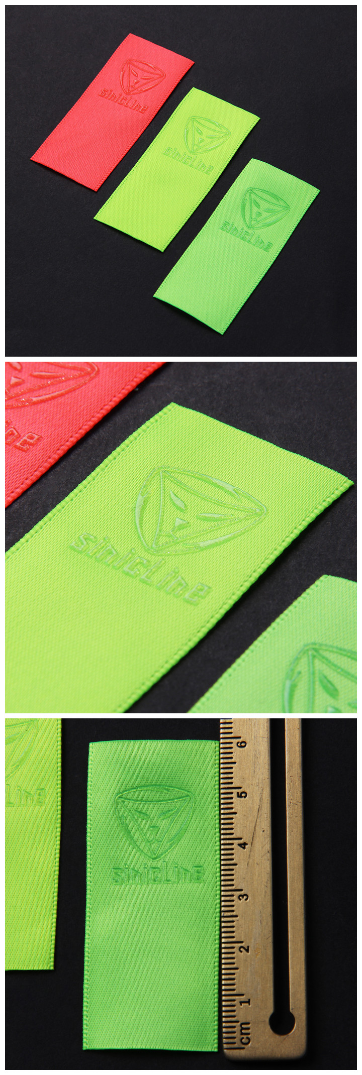 New launch: Fluorescent printed clothing labels for sportswear.   Browse more printed labels at http://www.sinicline.net/printed_labels/.   #labeling #fabriclabel #clothinglabel #fashion #sportswear #sinicline