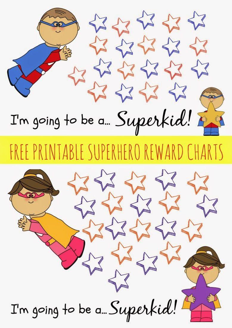 Free Printable Superhero Reward Chart  Printable Reward Charts