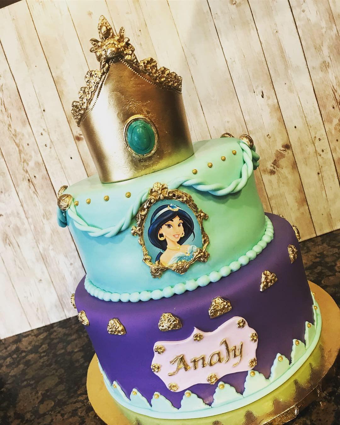 Remarkable Disney Princess Jasmin Cake Disney Princess Fondant Cake Personalised Birthday Cards Arneslily Jamesorg