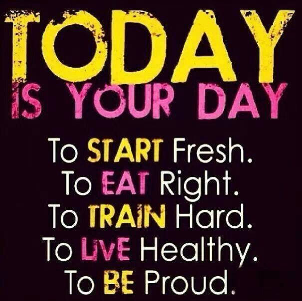 Today Is Your Day... To Start Fresh. To Eat Right. To
