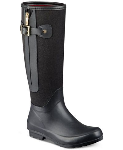 3533cd5cb26a Tommy Hilfiger Mela Rain Boots- For Emily in black size 8