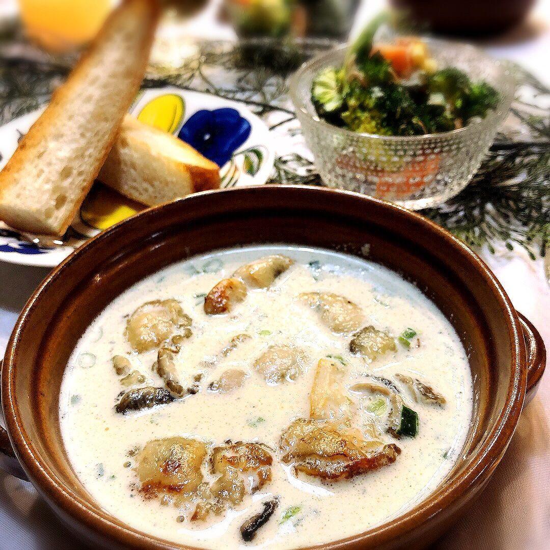 食材費高かったけど、気絶するほど美味しい『牡蠣のブルーチーズスープ』   栄養士ママそっち~の簡単美味しいサイクル献立