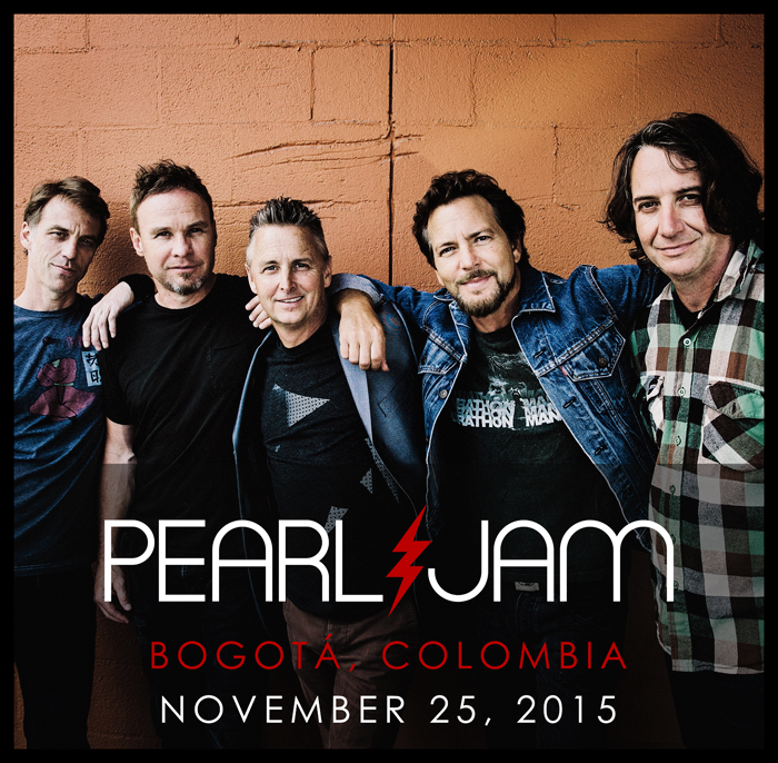 We're proud to announce Pearl Jam will be playing their first show ever in Colombia as part of their 2015 Latin American tour!Find out more: PearlJam.com