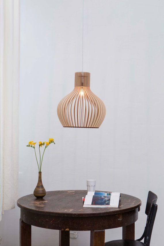 scandinavische stijl houten hangende lamp verlichting