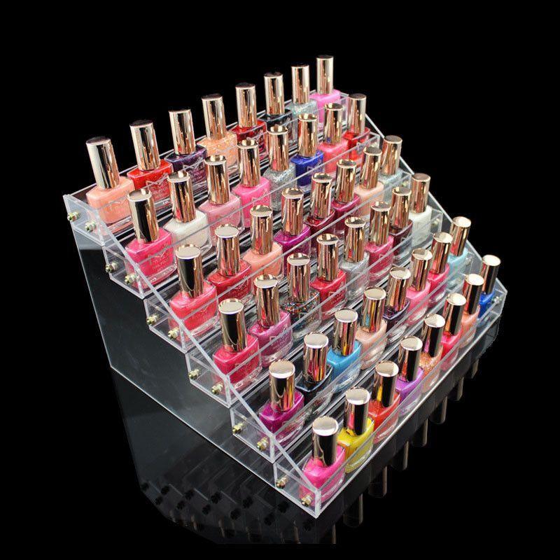 Fashion Storage Case Makeup Nail Polish Jewerly Organizer Rack ...