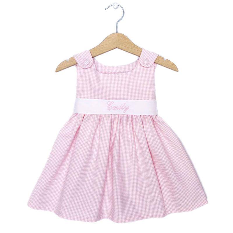8797beec9 Pink Gingham Baby Dress
