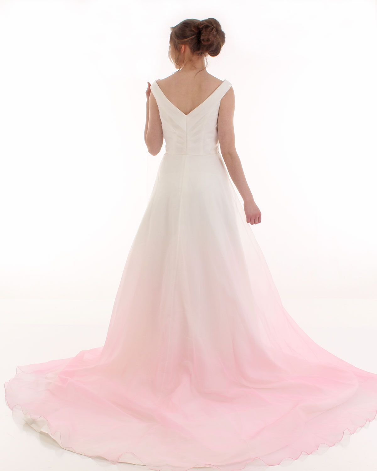 Ombre organza bridal gown from Kaela Bridal off-the-shoulder wedding dress