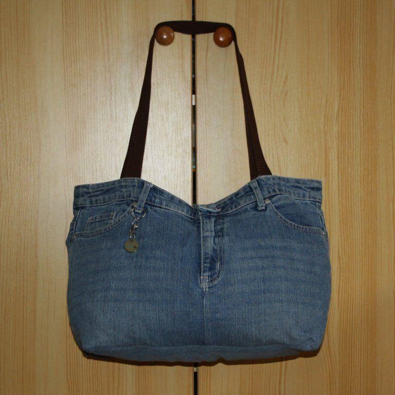 Upcyclingprojekt: Einkaufstasche aus alten Jeans – Bolsa de moda
