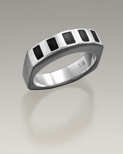 Everlasting Memories offers this simple Sterling Silver Men's Token Ring at a reasonable price.