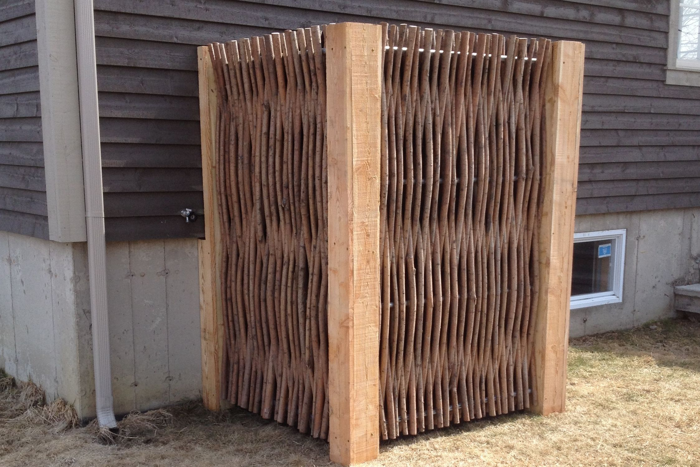 Comment Cacher Sa Terrasse clôtures | déco extérieure, pompe à chaleur, aménagement