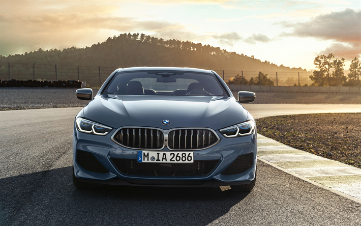 Download Wallpapers Bmw M850i Xdrive 4k Front View 2019 Cars