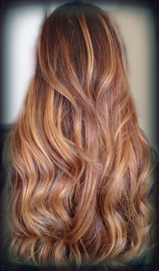 Rose Gold And Caramel Balayage By Brooke Krum Color In 2019