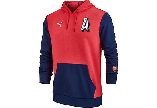 Puma Arsenal Big A Hoodie - High Risk Red & Heather