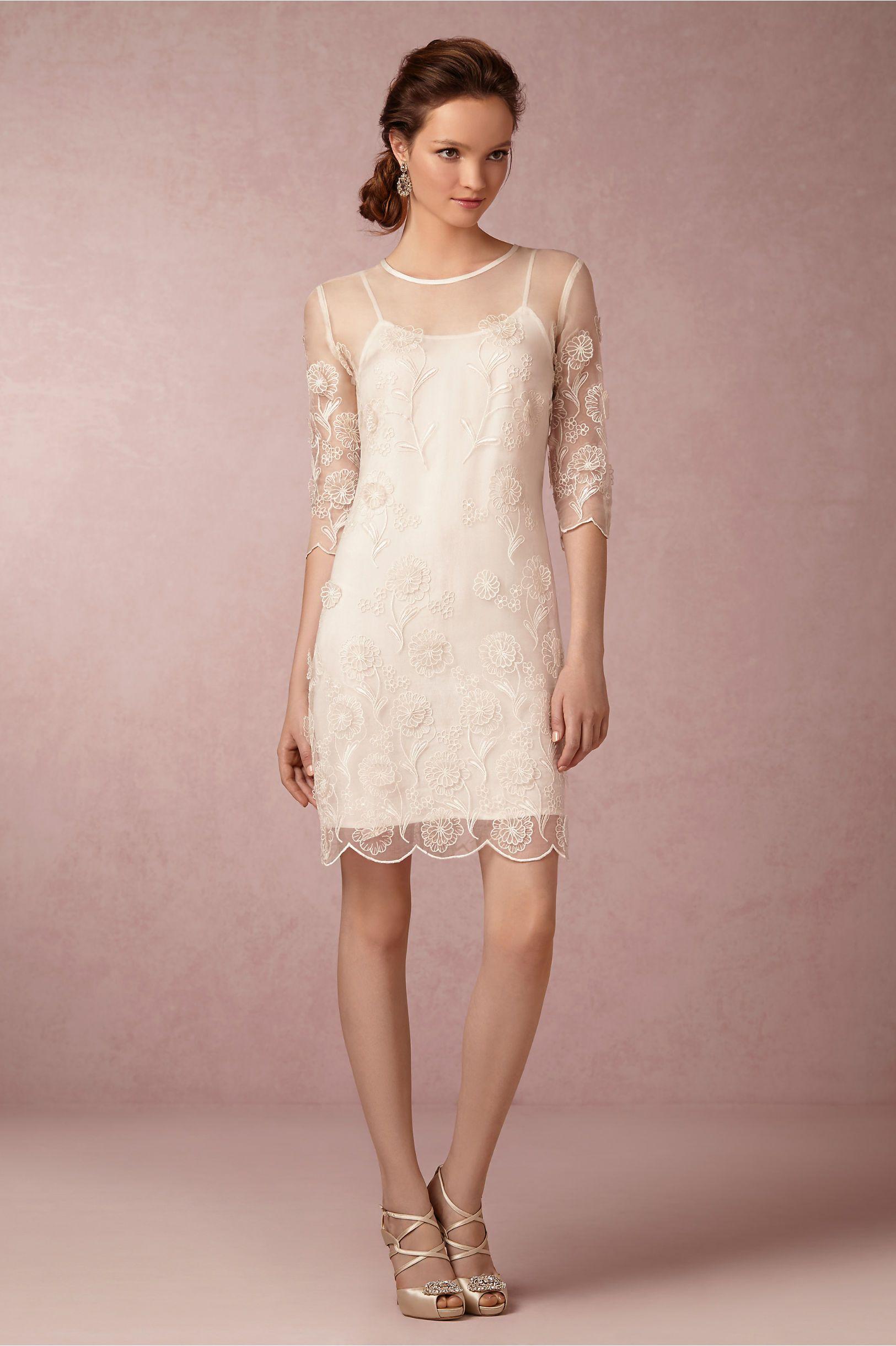 Short Wedding Dresses Nora Sheath Dress