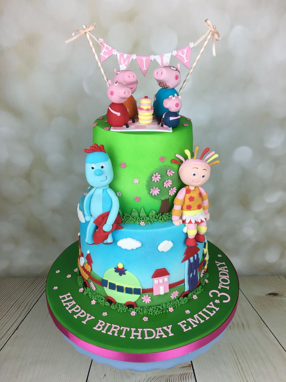 Peppa pig and in the night garden birthday cake #childrenscakes ...