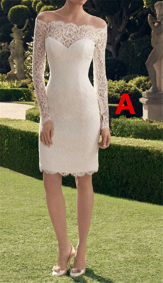 White Homecoming Dresses,Lace Homecoming Dresses,Lace Wedding Dresses,Off the Shoulder Homecoming Dresses,Long Sleeves Dresses for Teen,LV1213