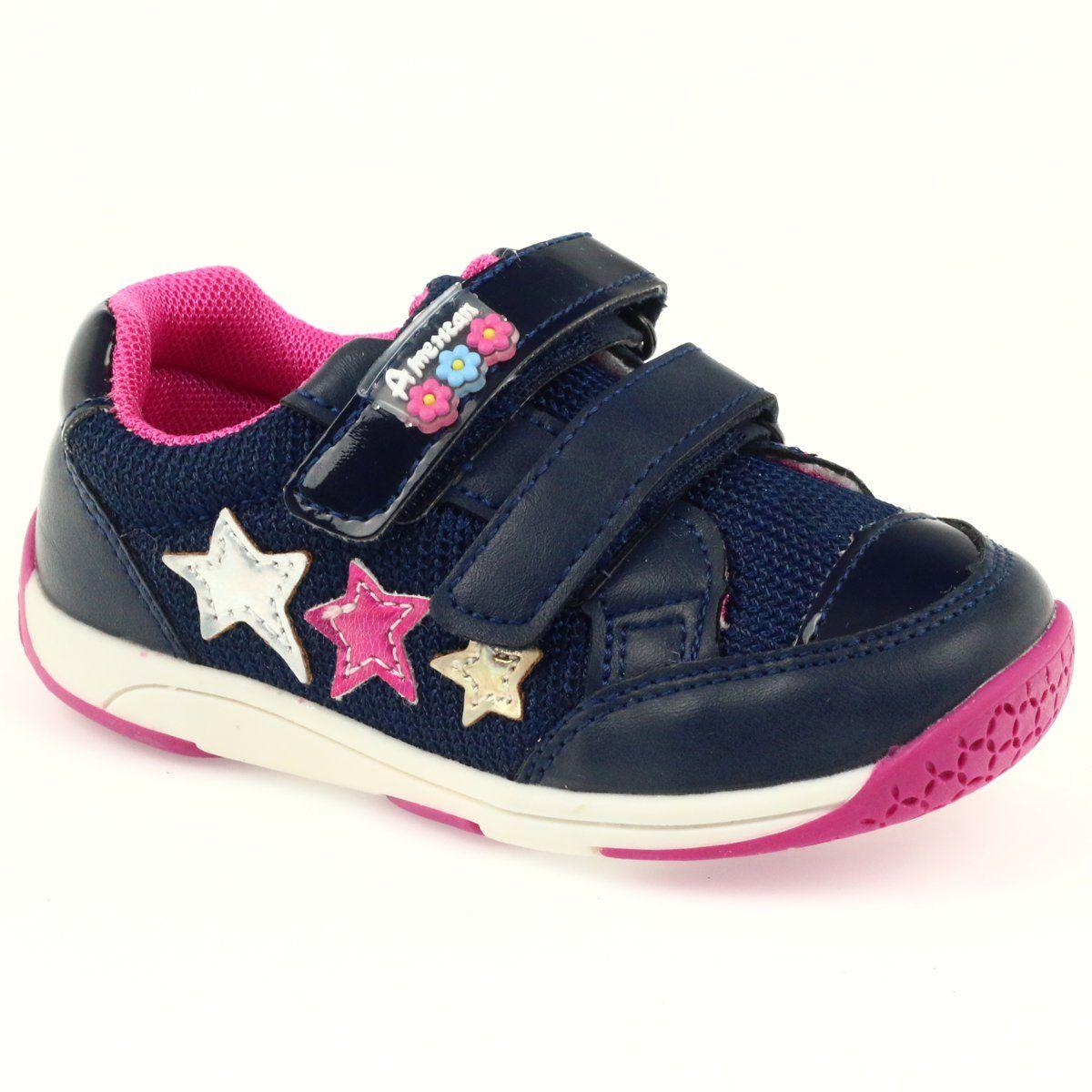 American Club American Adi Sportowe Buty Dzieciece 6759 Granatowe Baby Shoes Kids Shoes Girls Shoes