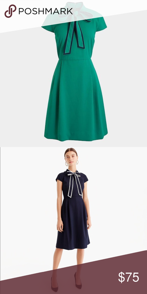 0ad043bcdd9df J.Crew Tie Neck 365 Crepe Dress Brand new with tags. ABSOLUTELY NO TRADES