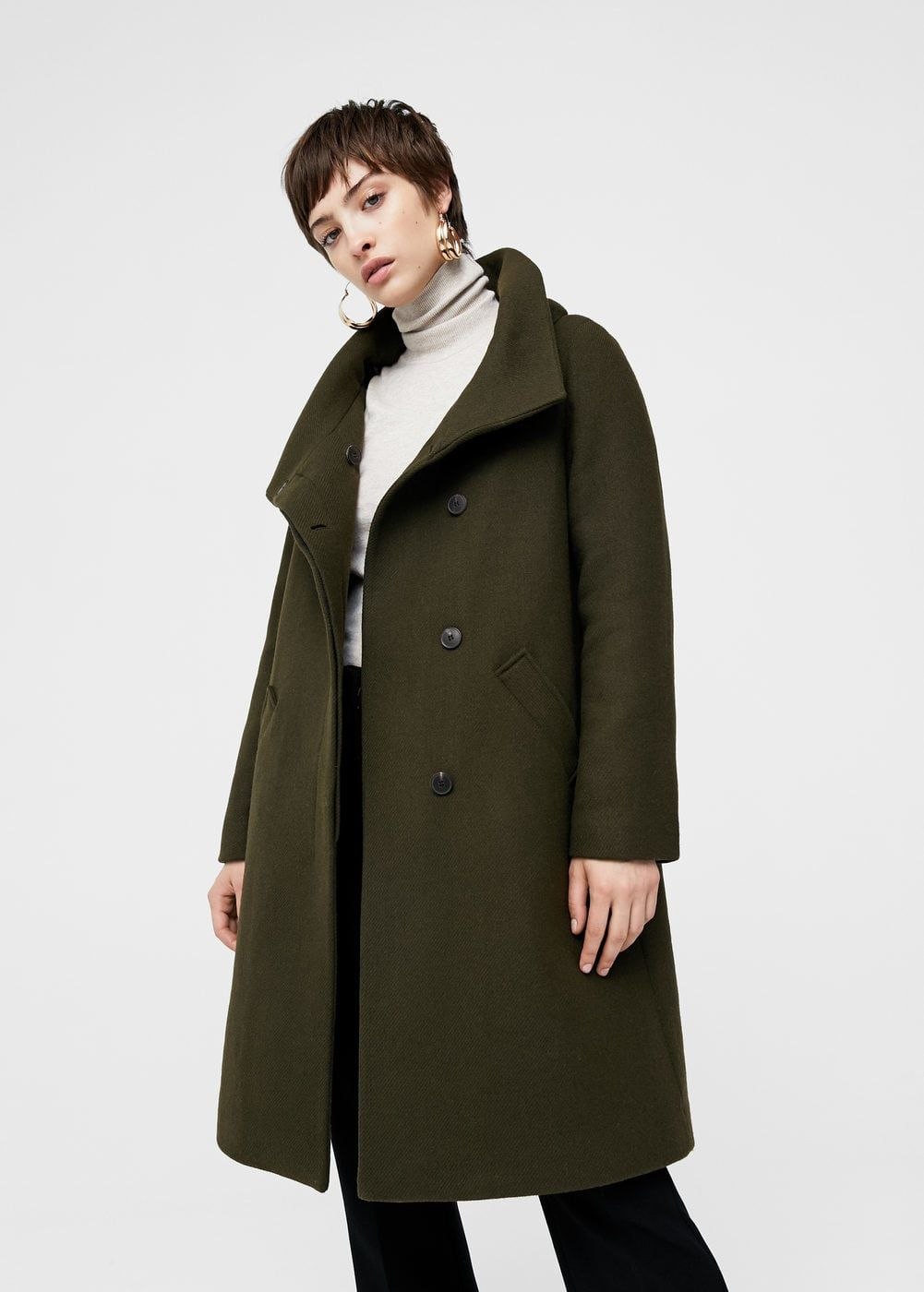 aefa347cf640 Wool-blend quilted coat - Women