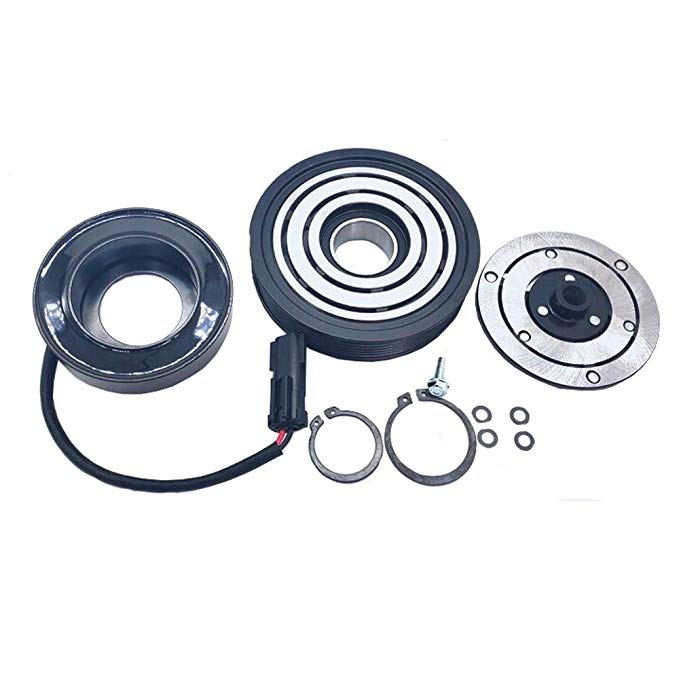 Amazon Com A C Ac Compressor Clutch Repair Kit Drive Plate Hub Pulley Bearing Coil For Jeep Liberty 6 Cyl 3 7l 2002 20 Ac Compressor Drive Plate Compressor