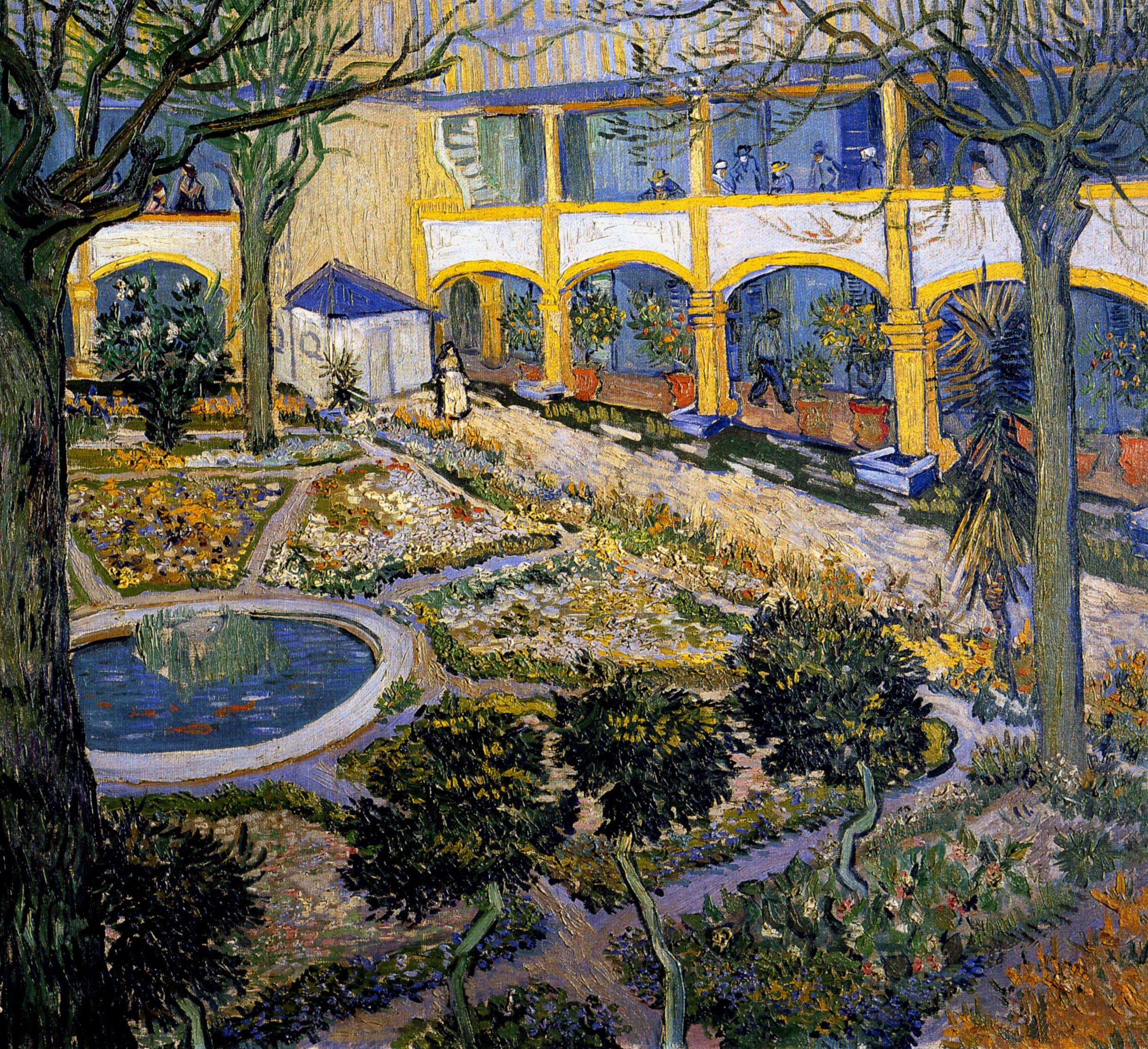 1889 Van Gogh Le Jardin De Lu0027hôpital Du0027Arles The Garden Of The