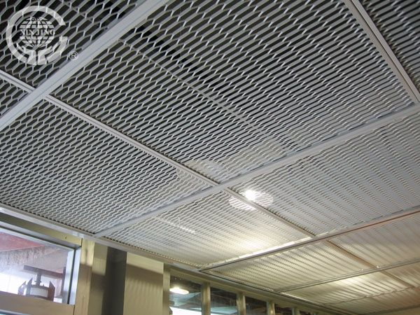 Aluminum Stretched Mesh Ceiling Metal Hanging Sheet Drop