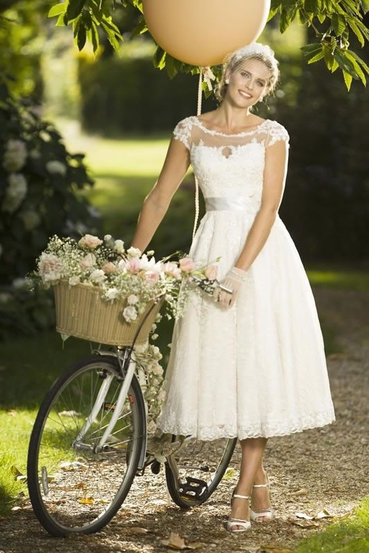 View Our Range Of Affordable Tea Length Wedding Dresses From Brighton Belle Featuring Vintage Style Short Bridal Gowns Unique Retro T