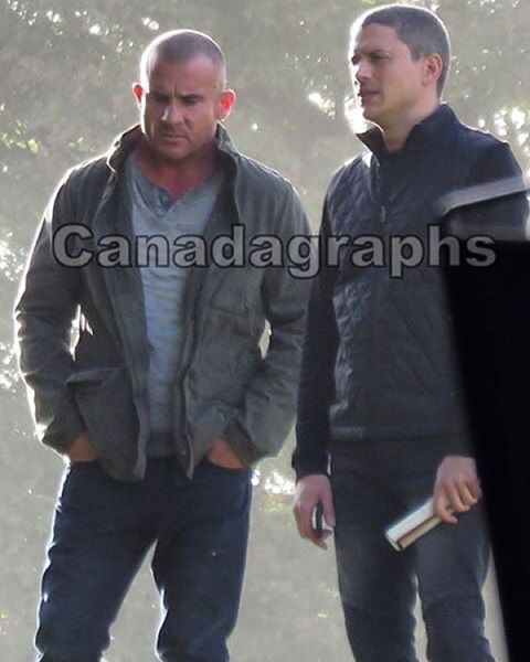 On the set of #legendsoftomorrow ❤️ #LOT #wentworthmiller #dominicpurcell #favs #myboys