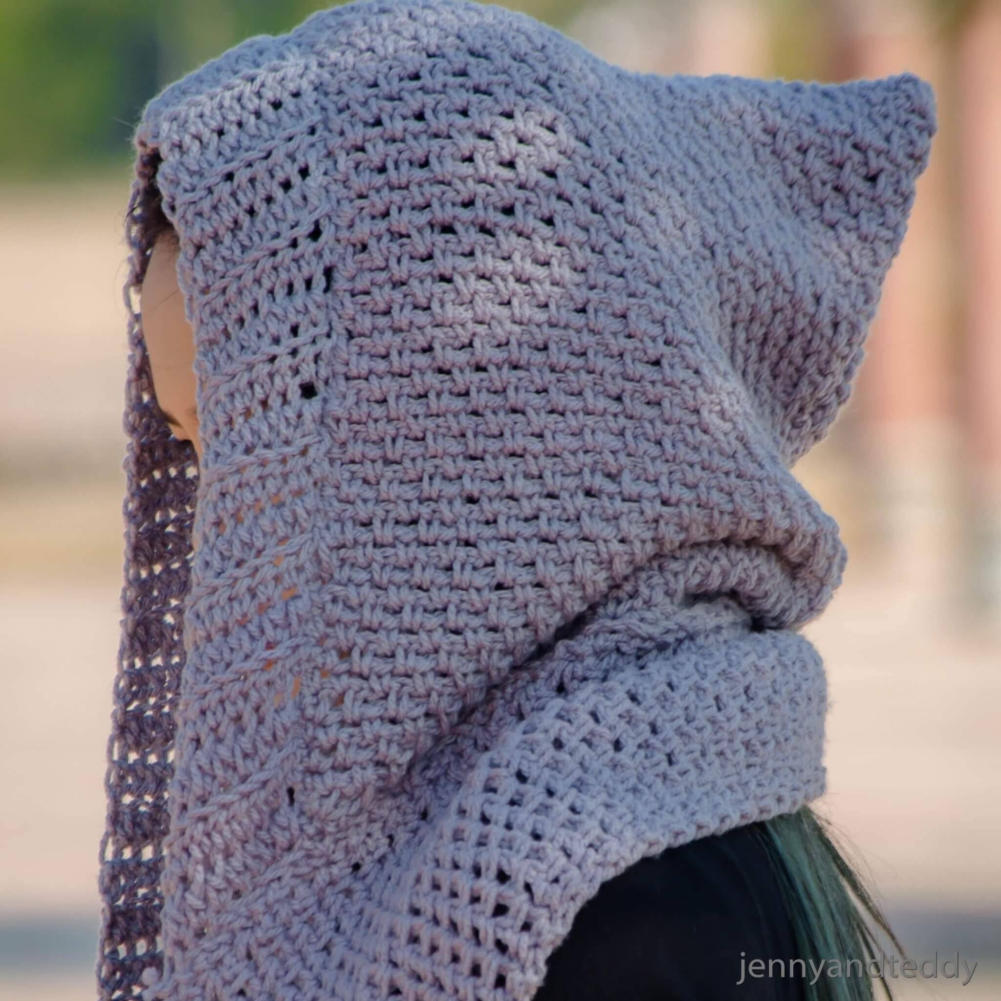 scoodie hooded scarf with pockets free crochet pattern | Crochet ...