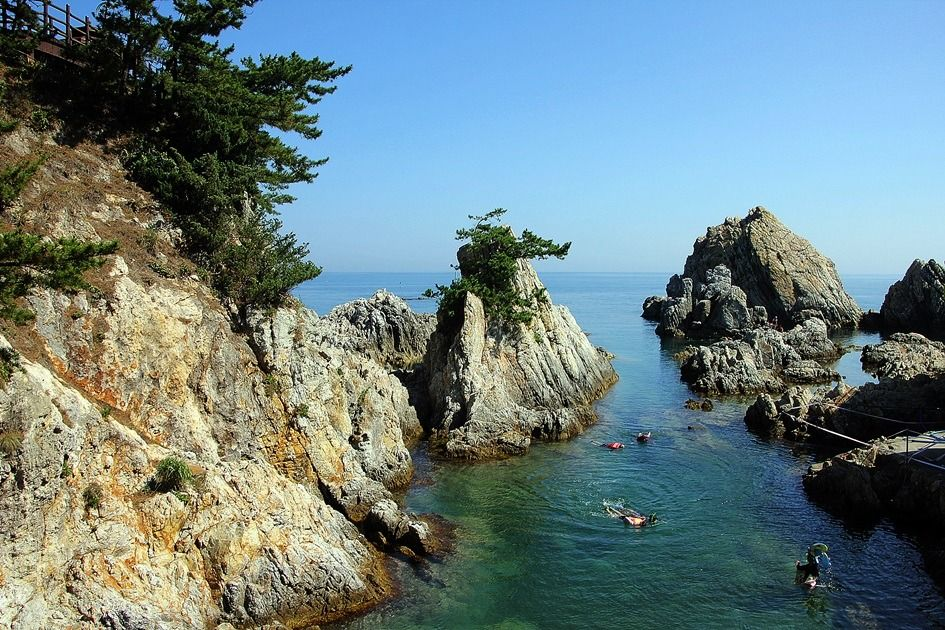 Diving in the East Sea, South Korea