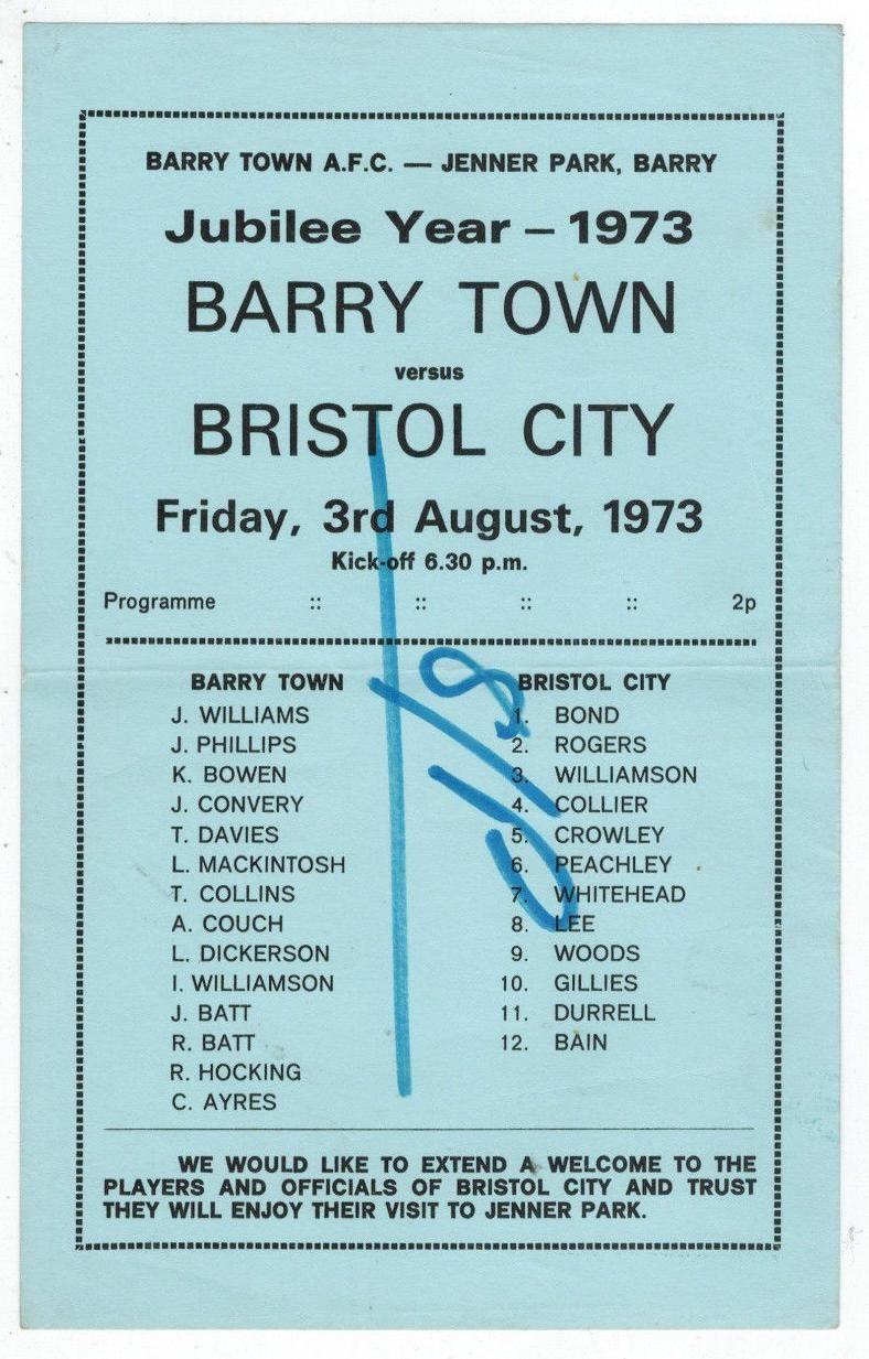 Bristol City (H), 1973.
