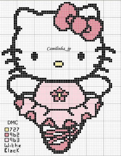Hello kitty cross stitch patterns | punto de cruz | Pinterest ...