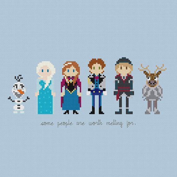 Disney Princess: Frozen Cross Stitch Pattern by pixelsinstitches